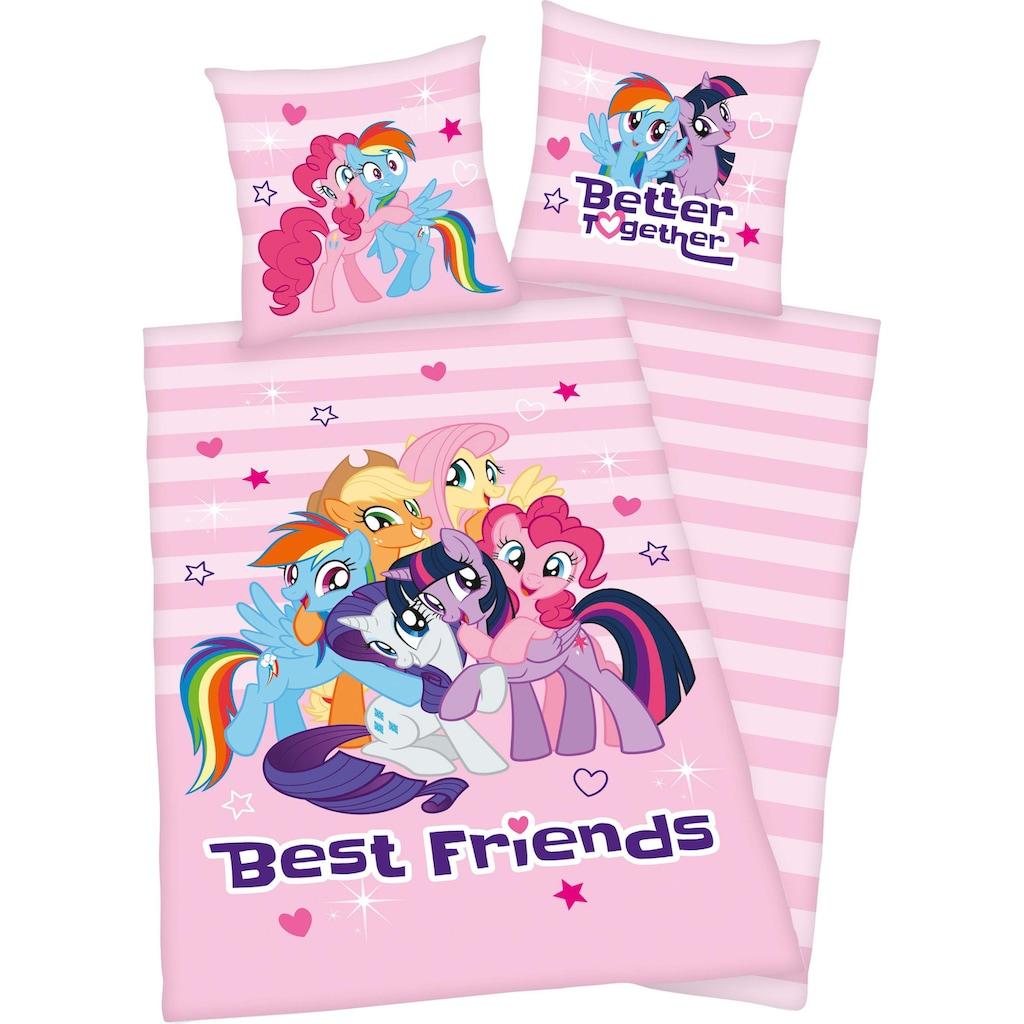 Kinderbettwäsche »Best Friends«, mit niedlichen Motiv