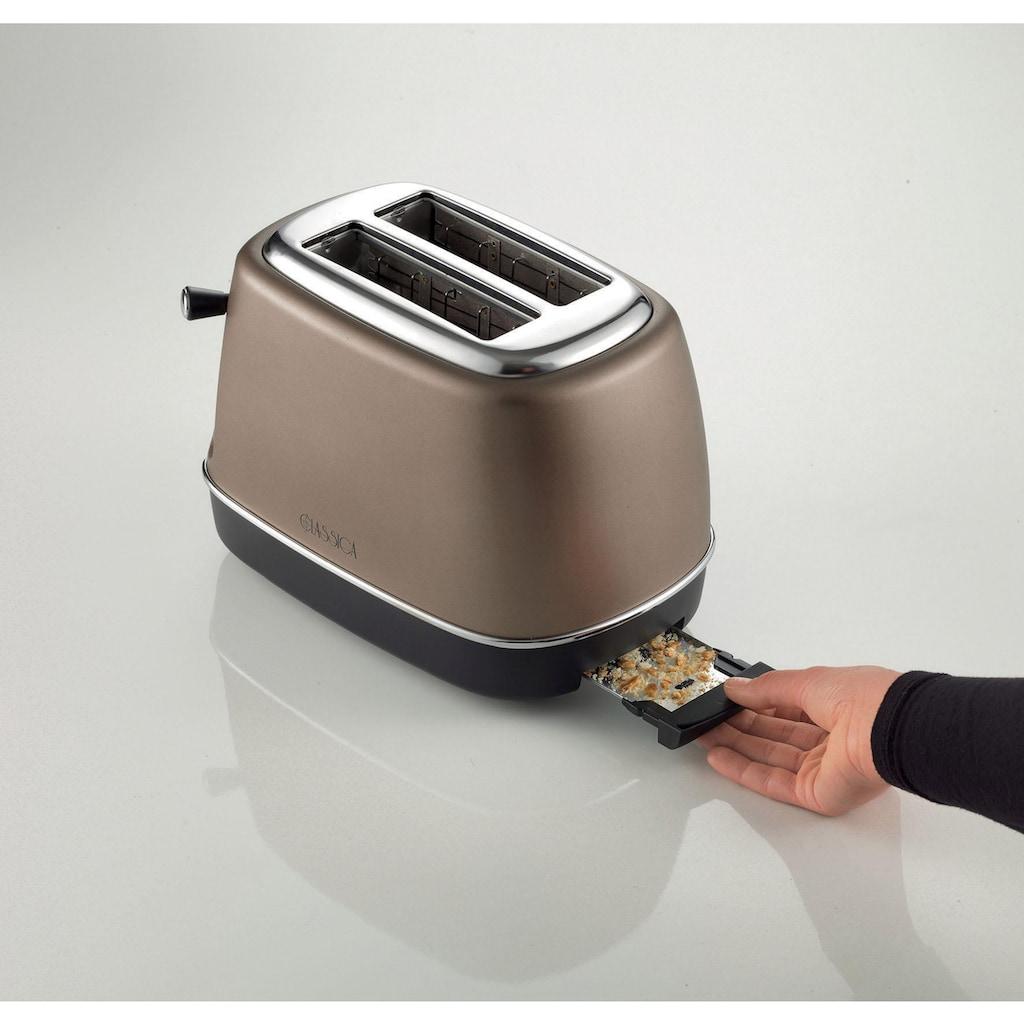 Ariete Toaster »Classica bronze 158BR«, 2 kurze Schlitze, für 2 Scheiben, 815 W