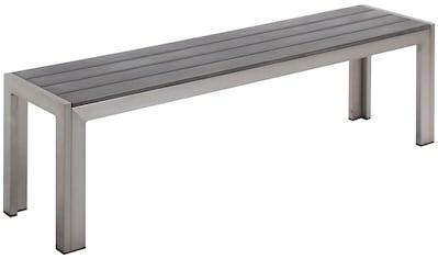 BEST Gartenbank »Seattle«, Aluminium, BxTxH: 160x34x45 cm kaufen