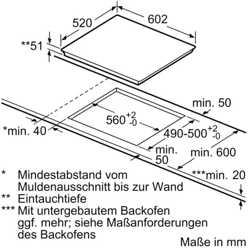 SIEMENS Induktions-Kochfeld von SCHOTT CERAN® »EH675LFC1E«, EH675LFC1E
