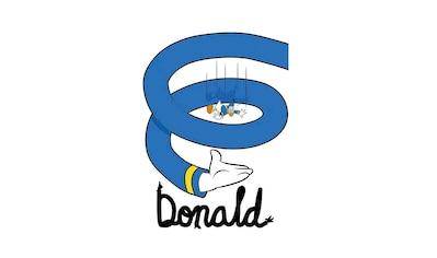 KOMAR XXL Poster »Donald Duck Spiral« kaufen