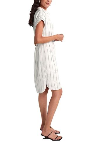 Comma Blusenkleid, in gestreifter Optik, mit Taillengürtel kaufen