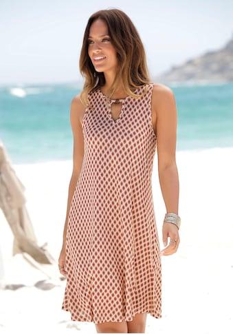 LASCANA Strandkleid, mit Ringdetail am Ausschnitt kaufen