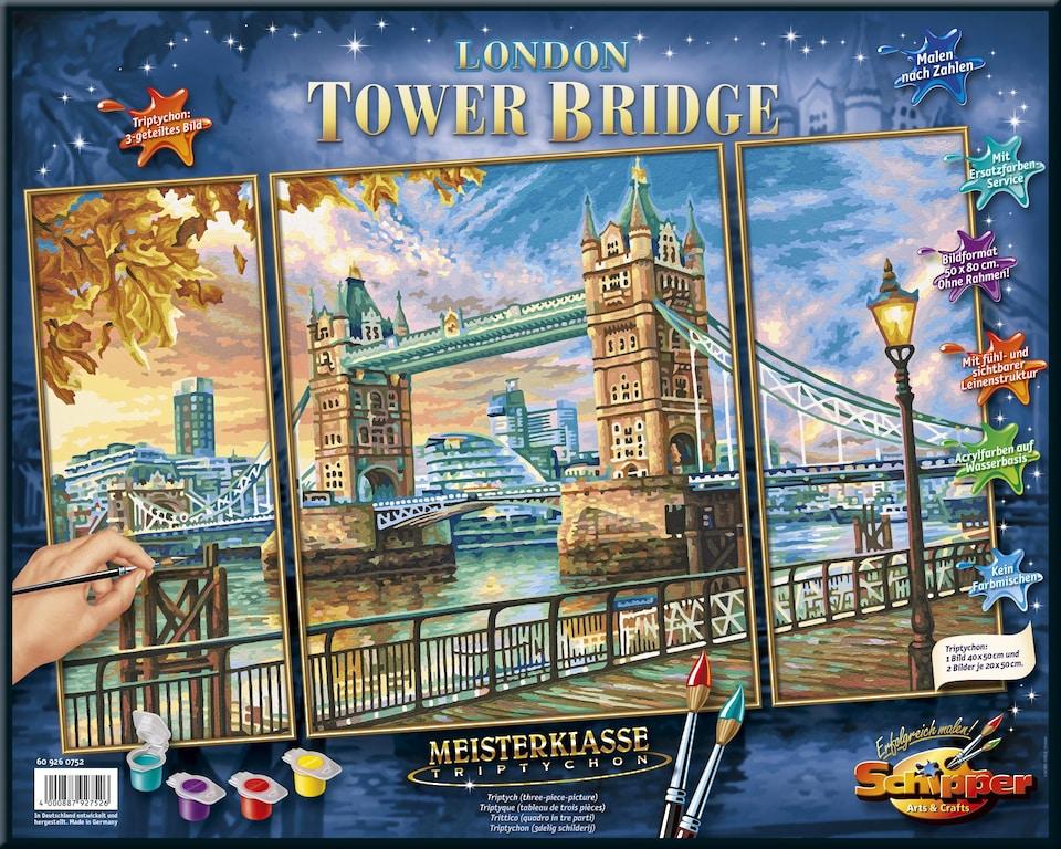 Schipper Malen Nach Zahlen Meisterklasse Triptychon London Tower Bridge Jetzt Online Kaufen Quellede