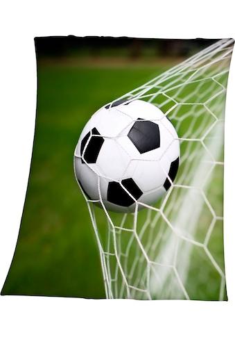 Herding Young Collection Kinderdecke »Fußball im Netz«, mit tollem Fußball Motiv kaufen