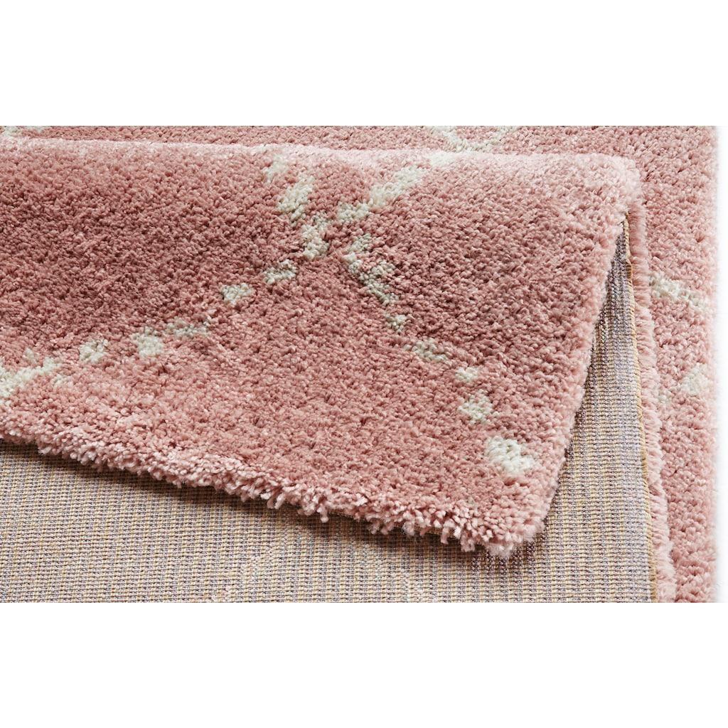 MINT RUGS Hochflor-Teppich »Hash«, rechteckig, 35 mm Höhe, Scandi Look