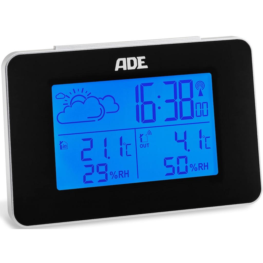 ADE Funkwetterstation »WS1711«, (mit Außensensor), mit 12h/24h Vorhersage, LCD-Display