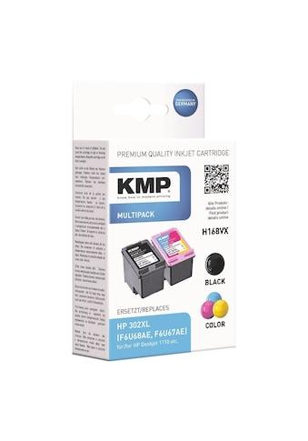 KMP Tintenpatronen - Set ersetzt HP Nr. 302XL schwarz, cyan, magenta, »F6U68AE« kaufen