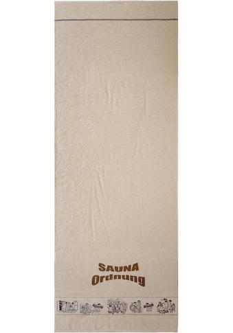 Dyckhoff Saunatuch »Saunaordnung«, (1 St.), mit Motivbordüre kaufen