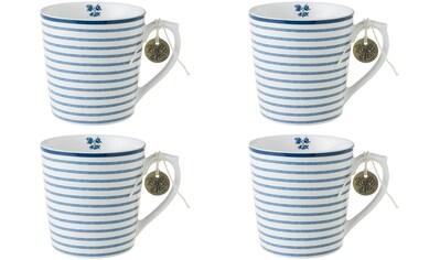 LAURA ASHLEY BLUEPRINT COLLECTABLES Becher »Candy Stripe«, (Set, 4 tlg., 4 Becher), Porzellan kaufen