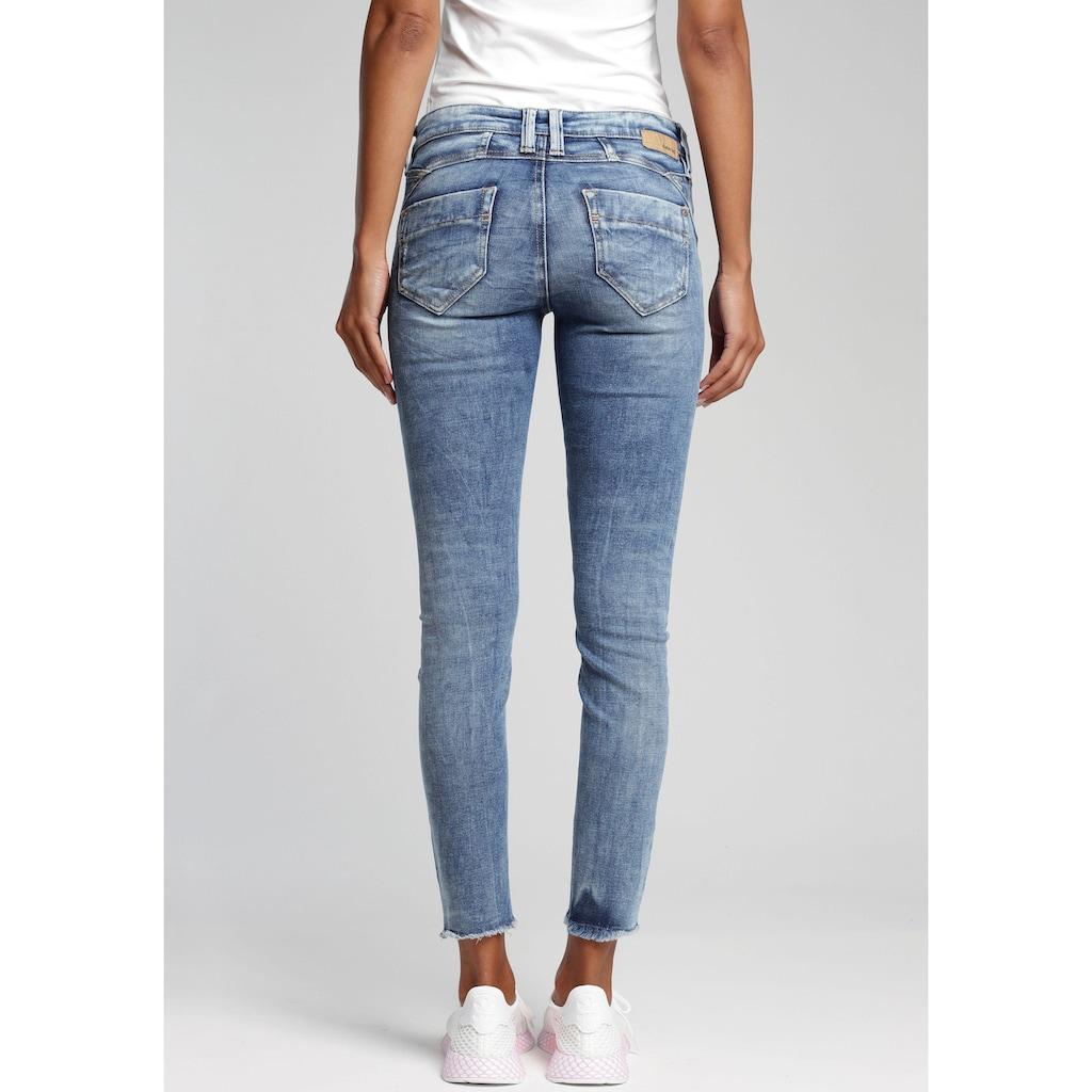 GANG Skinny-fit-Jeans »Nena Cropped«, mit Destroyed-Effekten