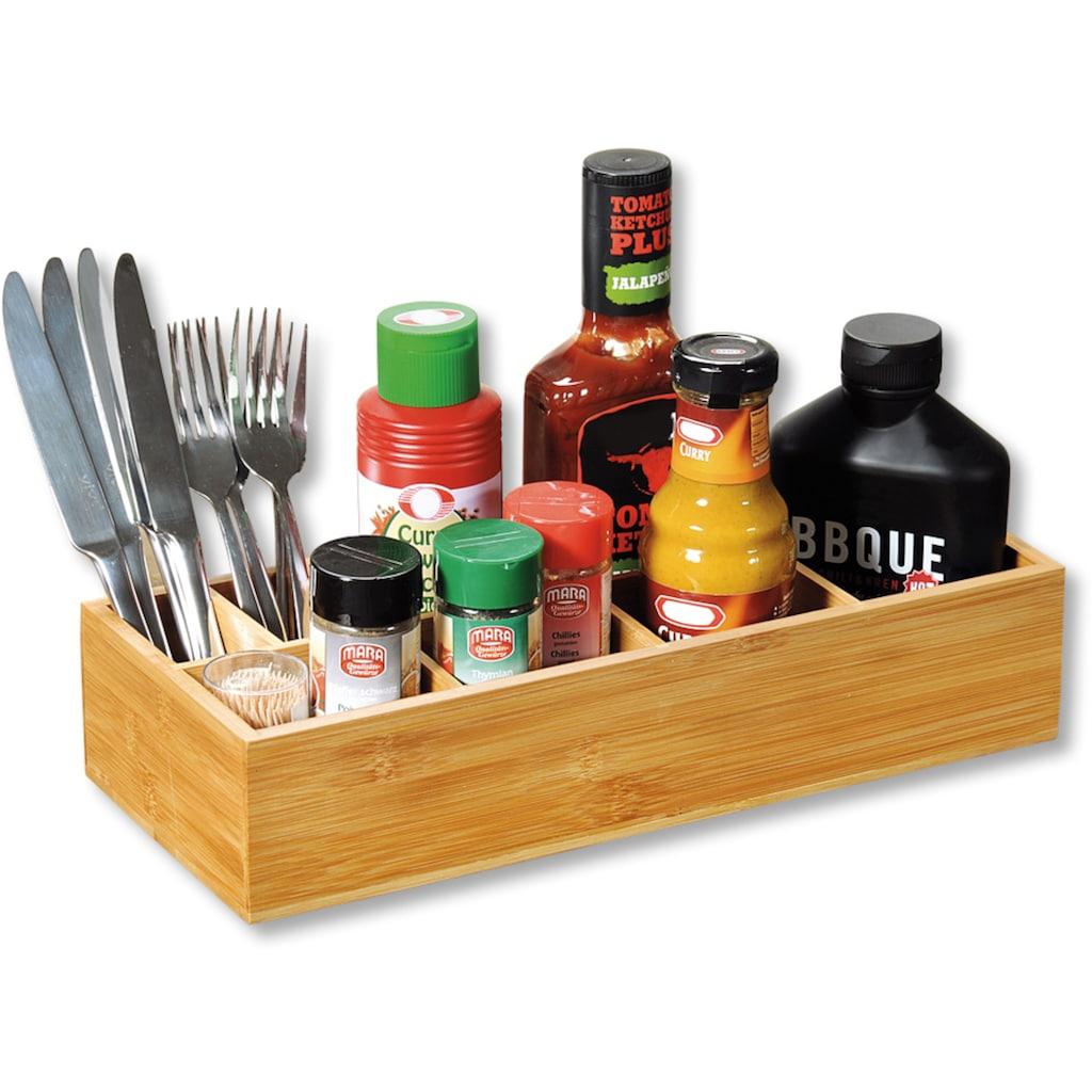 KESPER for kitchen & home Aufbewahrungsbox, FSC®-zertifizierter Bambus