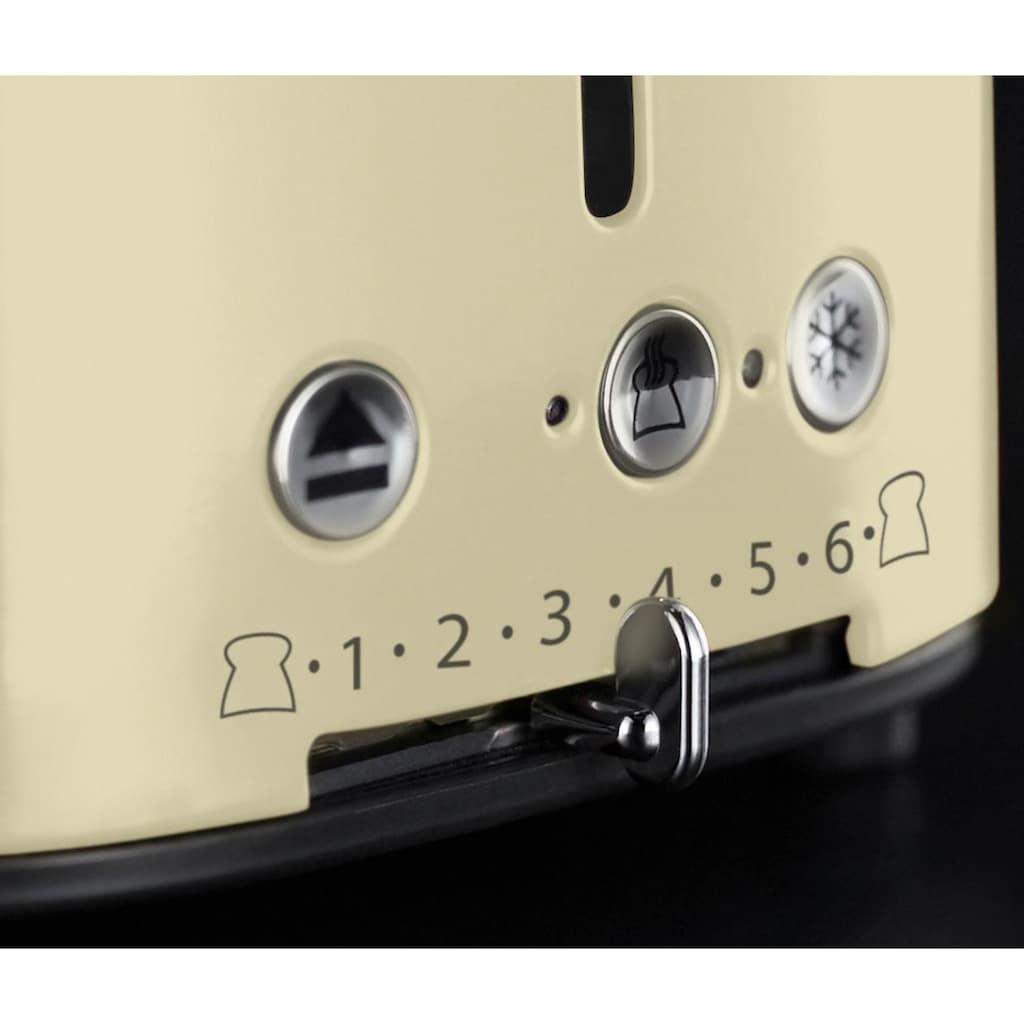 RUSSELL HOBBS Toaster »21682-56«, 2 kurze Schlitze, 1300 W, Retro Vintage Cream