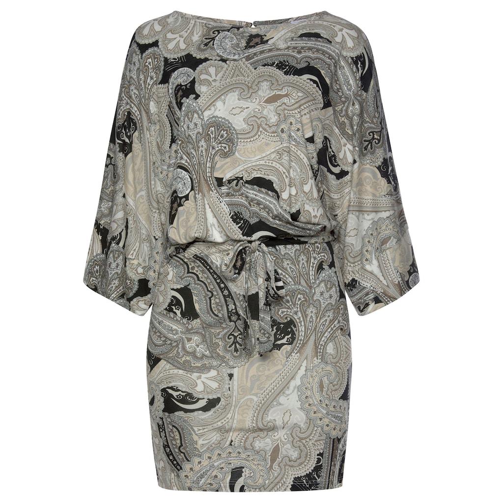 LASCANA Strandkleid, (mit Bindeband), mit Paisleydruck