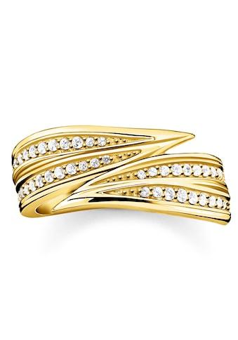 THOMAS SABO Fingerring »Blätter gold, TR2283 - 414 - 14 - 52, TR2283 - 414 - 14 - 54, TR2283 - 414 - 14 - 56, TR2283 - 414 - 14 - 58, TR2283 - 414 - 14 - 60« kaufen