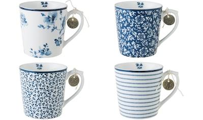 LAURA ASHLEY BLUEPRINT COLLECTABLES Becher »Designs China Rose, Sweet Allysum, Floris, Candy Stripe«, (Set, 4 tlg.), Porzellan kaufen