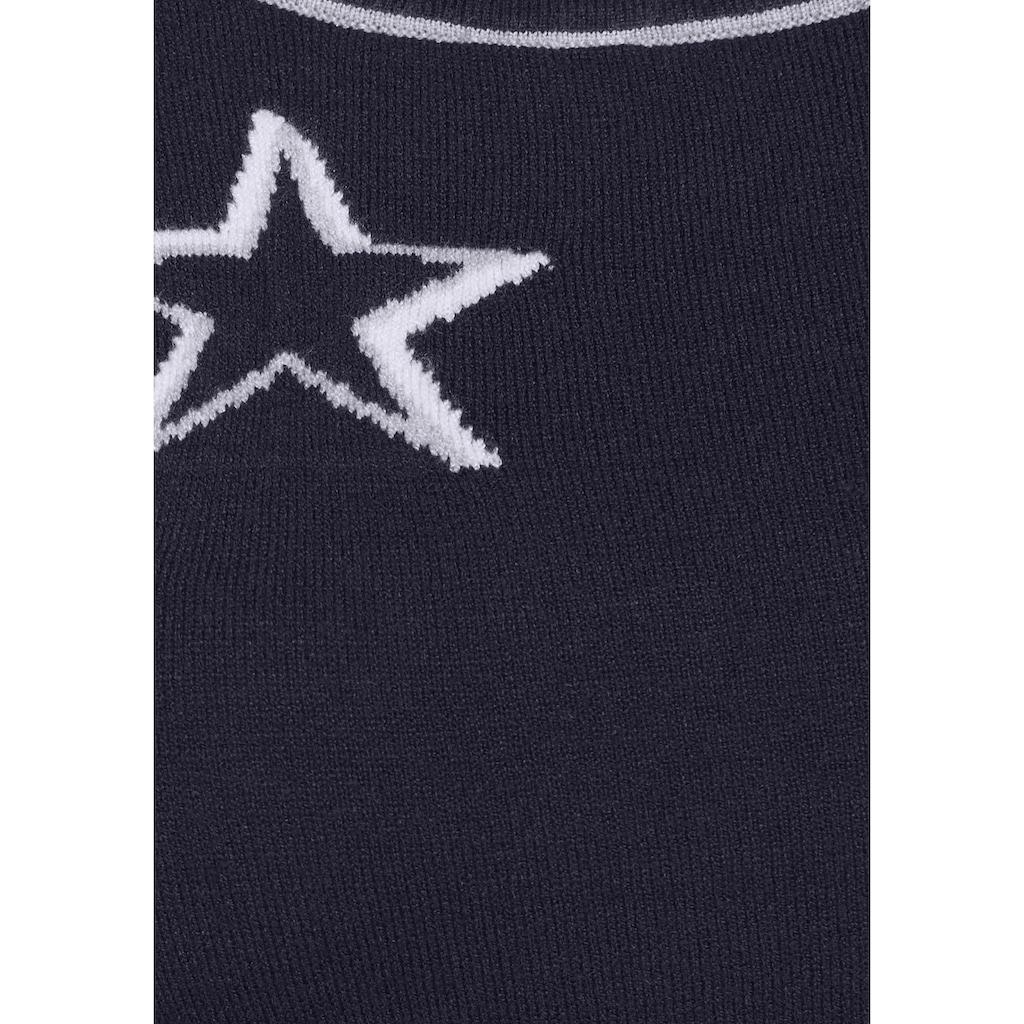 KangaROOS Strickkleid, mit eingestrickten Sternen