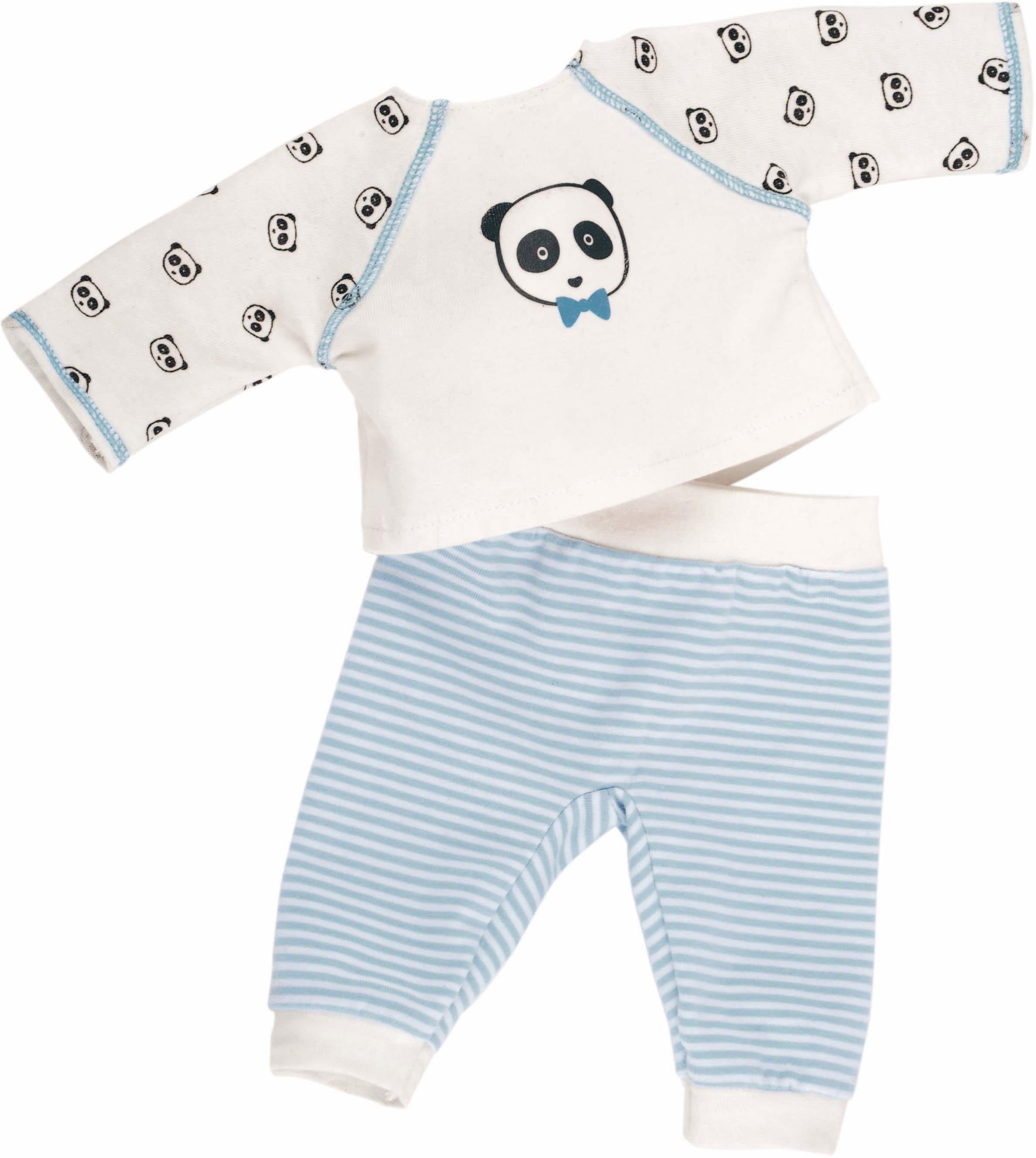 Käthe Kruse Puppenbekleidung, Größe ca. 35-37 cm, »Panda Schlafanzug« | Bekleidung > Wäsche > Nachtwäsche | Mehrfarbig | Ab | KÄTHE KRUSE
