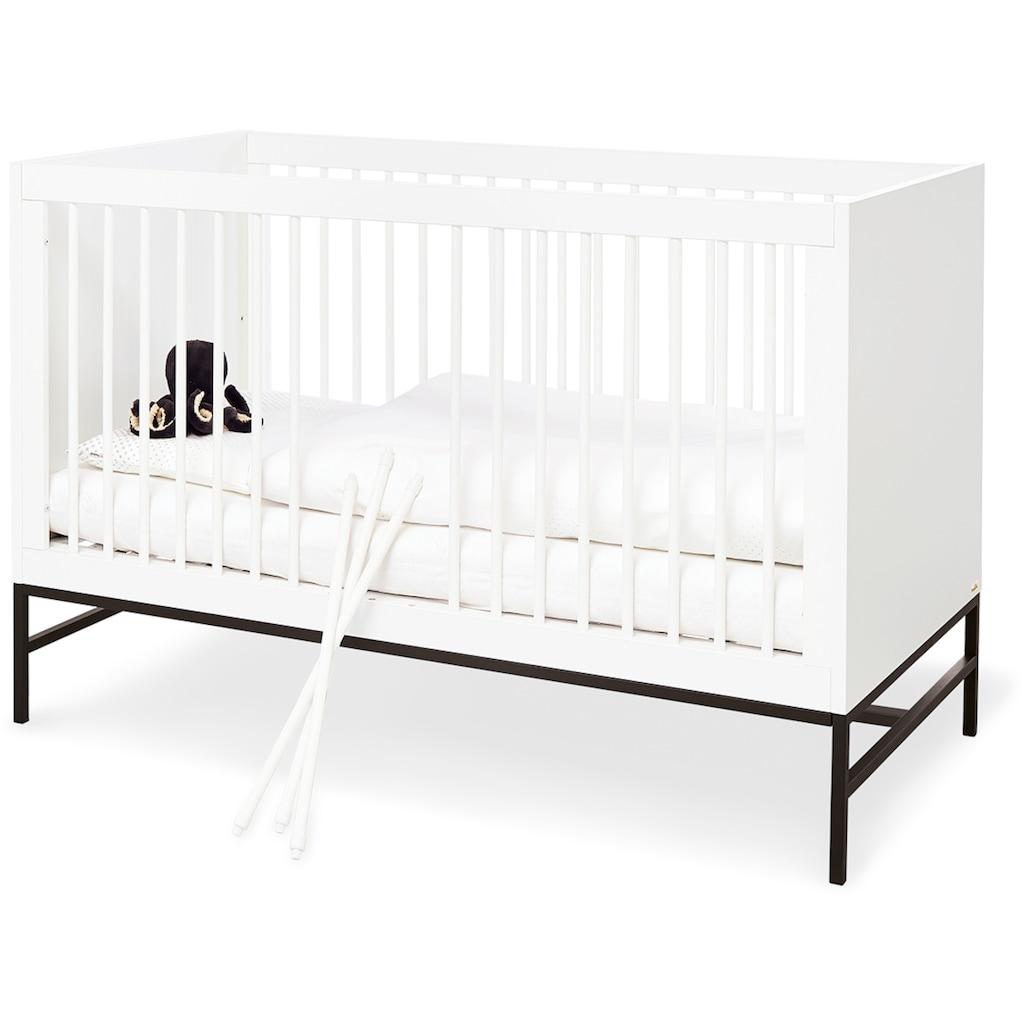 Pinolino® Babyzimmer-Komplettset »Steel«, (Set, 3 St.), extrabreit groß; mit Kinderbett, Schrank und Wickelkommode; Made in Europe