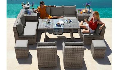 KONIFERA Loungeset »Florida«, 26tlg., 3 - er Sofa, 2x 2 - er Sofa, 2 Sessel,2 Hocker, 3 Tische kaufen