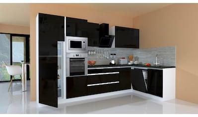 RESPEKTA Winkelküche »Usedom«, mit E - Geräten, mit Soft - Close Funktion, Breite 345 x 172 cm kaufen