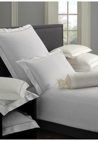 Elegante Bettwäsche »White House«, mit unifarbenen Streifen kaufen