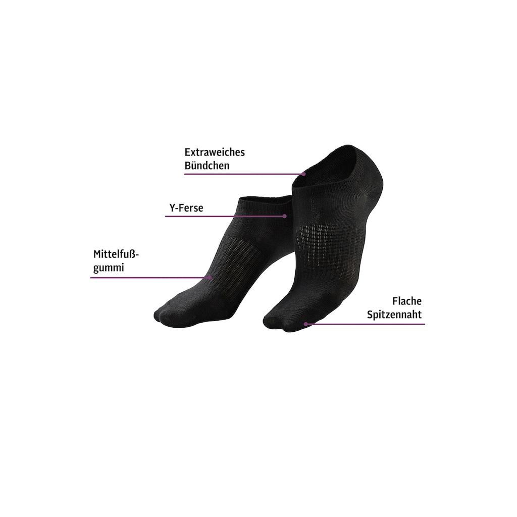 LASCANA ACTIVE Sneakersocken, (7 Paar), mit Mittelfußgummi