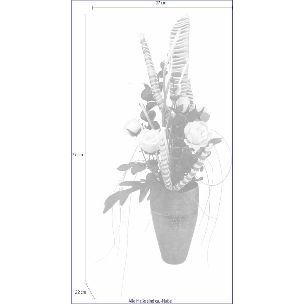 I.GE.A. Kunstpflanze »Arrangement Rosen in Vase«