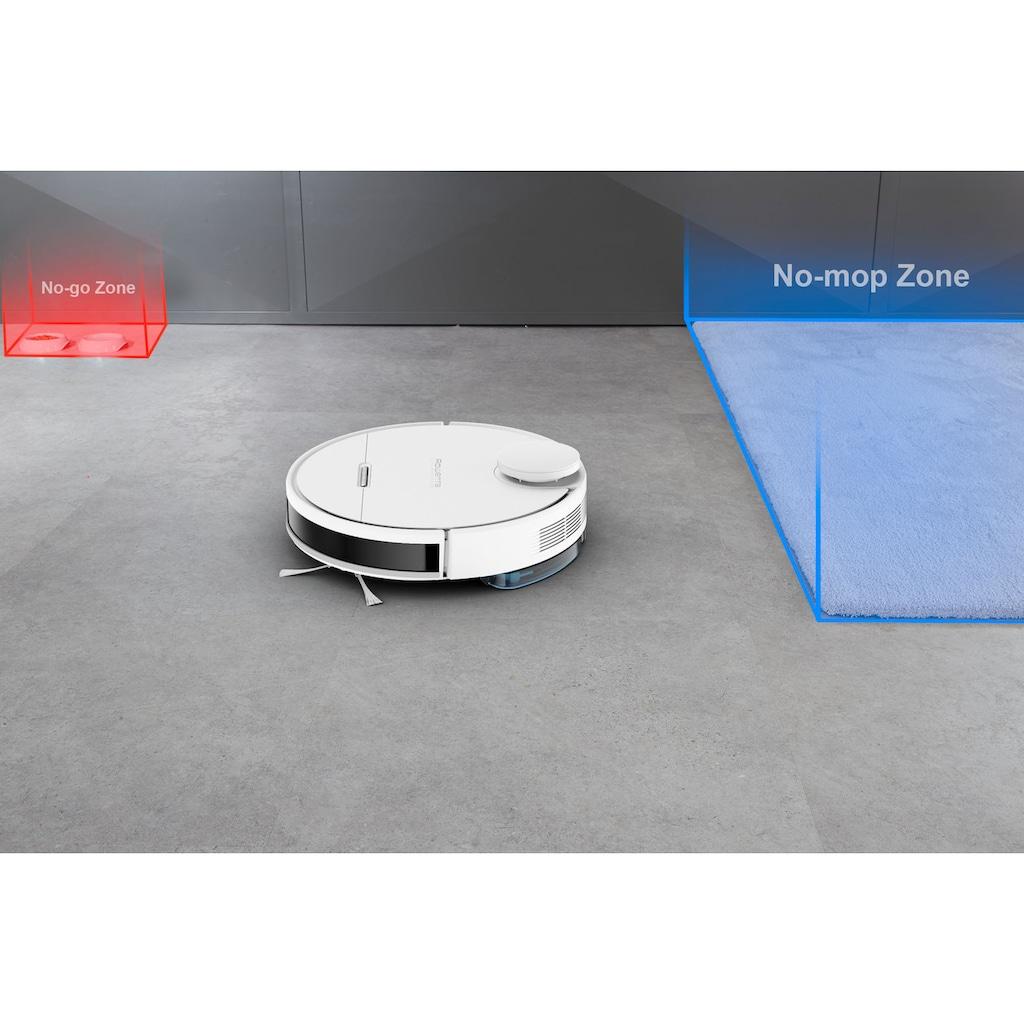 Rowenta Nass-Trocken-Saugroboter »RR7987 X-Plorer Serie 95; Besonders leistungsstark; Gründliche Tiefenreinigung auf 220m²,«, 4 in 1 Saugwirkung; Hochpräzise Steuerung; Kompatibel mit Smartphone & Sprachassistenten
