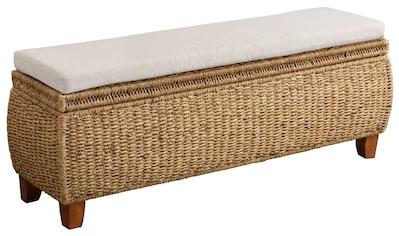 Home affaire Truhenbank »Larkson«, aus Wasserhyazinthe, inklusive Sitzkissen, einem... kaufen
