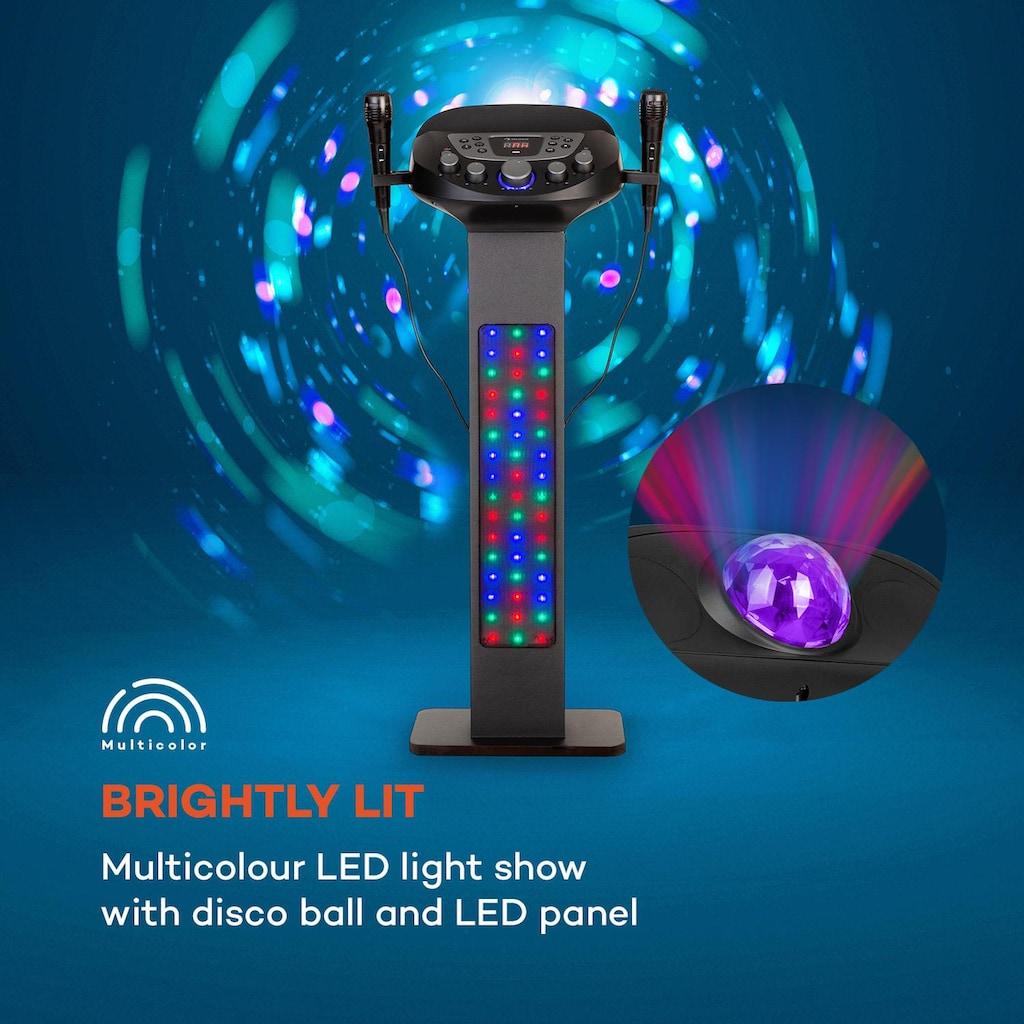 Auna Karaokeanlage BT 2xMikro Multicolor USB 40W