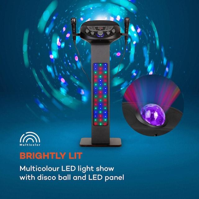 Auna Karaokeanlage BT 2xMikro Multicolor USB 40W »KaraBig LighUp«