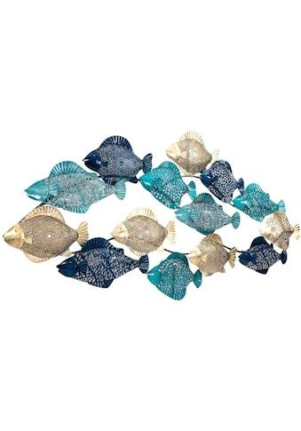 Schneider Wanddekoobjekt »Wanddeko Fishes«, Wanddeko, aus Metall, maritim kaufen