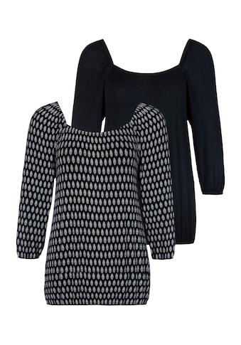 LASCANA T-Shirt, mit karreeförmigem Ausschnitt kaufen