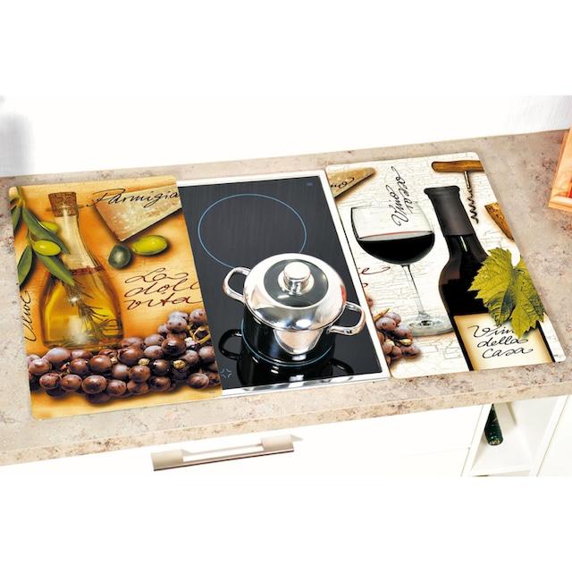 """KESPER for kitchen & home Schneide- und Abdeckplatte """"Italien"""", ESG-Sicherheitsglas, (Set, 2-tlg.)"""