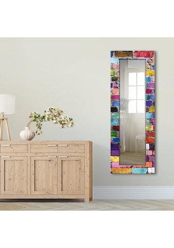 Artland Wandspiegel »Bunte Mauer«, gerahmter Ganzkörperspiegel mit Motivrahmen,... kaufen
