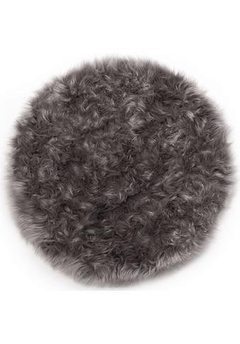 Andiamo Stuhlkissen »Ovium«, Sitzauflage, rund, Ø 34 cm, Kunstfell, waschbar kaufen
