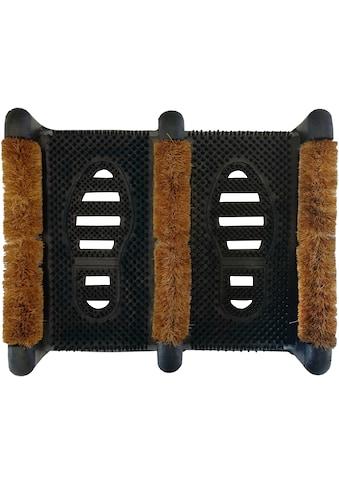 Andiamo Fußmatte »Gummi Kokos Schuh«, rechteckig, 60 mm Höhe, Schmutzfangmatte, In-... kaufen