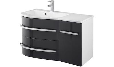 WELLTIME Waschtisch »OSLO«, Breite 90cm 2tlg. , geschwungene Form, Ablage rechts kaufen