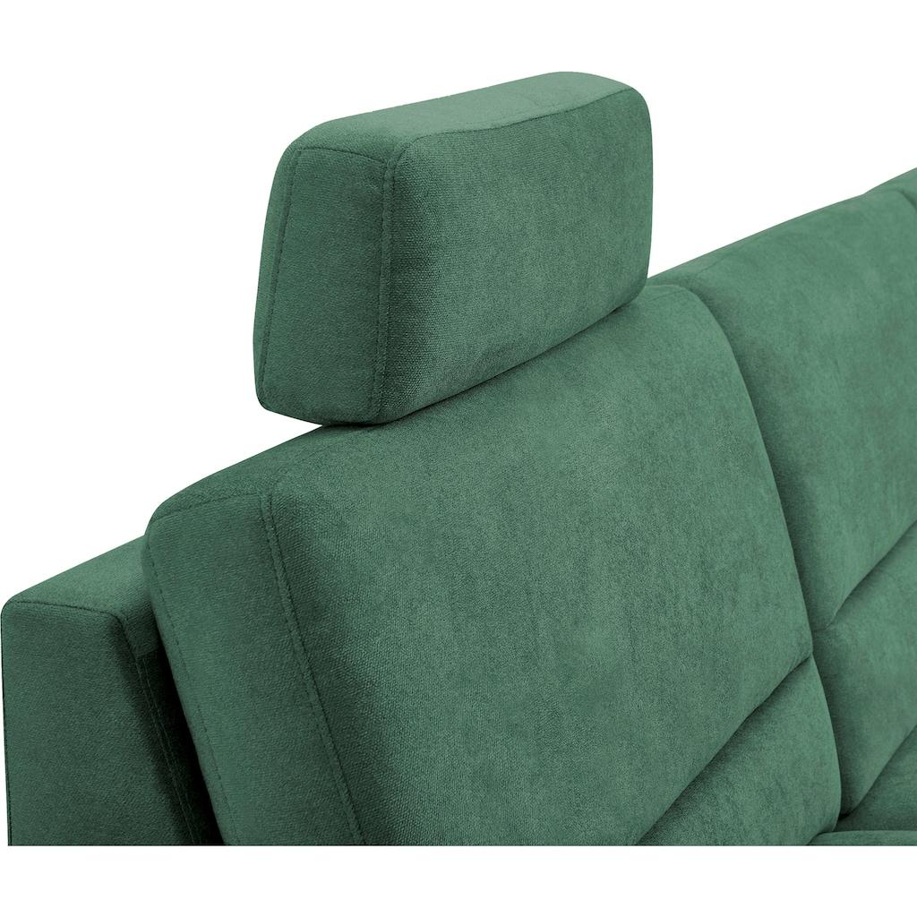CALIZZA INTERIORS Ecksofa »Onyx«, Recamiere links oder rechts, wahlweise mit Bettfunktion und Bettkasten, Breite 270 cm