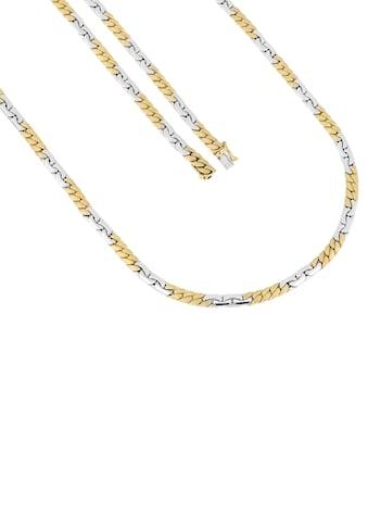 Firetti Goldkette »Anker -  und Panzerkette, 4,7 mm, bicolor, glänzend, gebürstet, flach, rhodiniert, beidseitig bombiert, halbmassiv« kaufen