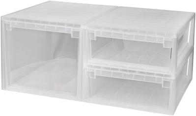 KREHER Aufbewahrungsbox »1x 50 Liter, 2x 22 Liter, mit Schubladen« 3er Set kaufen