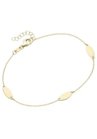 Firetti Goldarmband »Gelbgold, oval, glanz, massiv, zeitlos, Ankerkettengliederung« kaufen