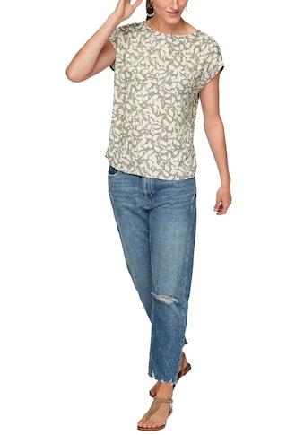 s.Oliver Druckbluse, Rücken-Ausschnitt mit kleinem Binde-Detail kaufen