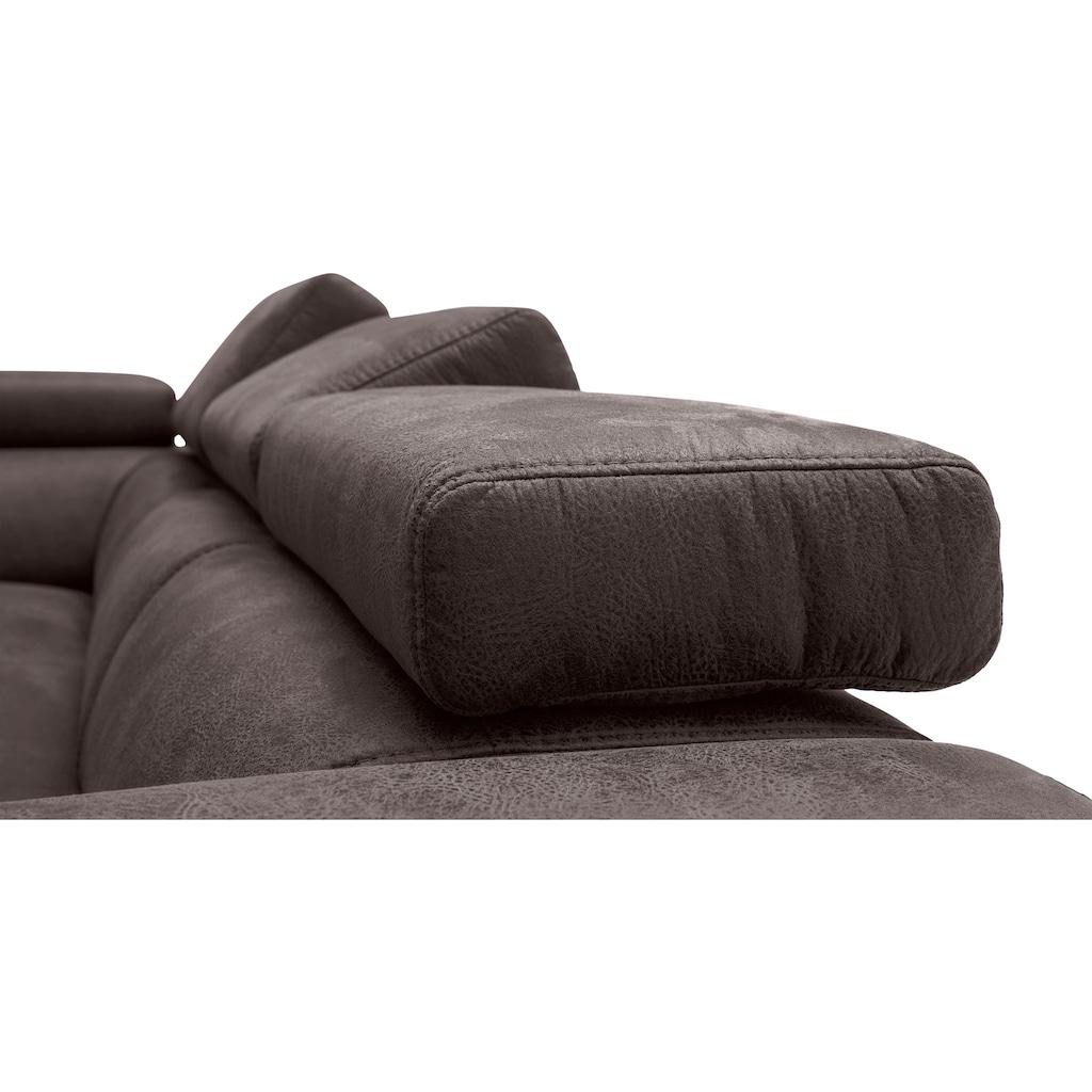 Home affaire Ecksofa »Steve Premium Luxus«, bis 140kg pro Sitz belastbar, incl. Kopfteilverstellung, wahlweise mit Bettfunktion und Bettkasten