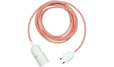 SEGULA Pendelleuchte »Pendelleuchte Weiß - Schalter Kunststoff - 3m Stoffkabel rot«,... kaufen