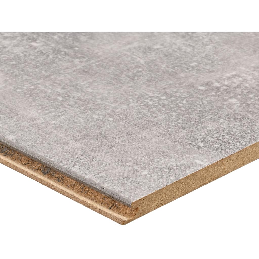 Bodenmeister Laminat »Betonoptik Sicht-Beton hell-grau«, pflegeleicht, 60 x 30 cm Fliese, Stärke: 8 mm