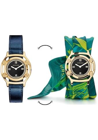 Versace Schweizer Uhr »Medusa Frame, VEVF00820«, (Set, 2 tlg., Uhr mit Lederband und Seidentuch) kaufen