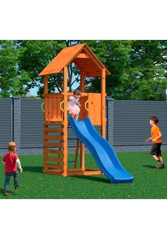 DOBAR Spielturm »Bento«, BxHxT:100x282x310 cm, mit Kletterwand und Rutsche kaufen