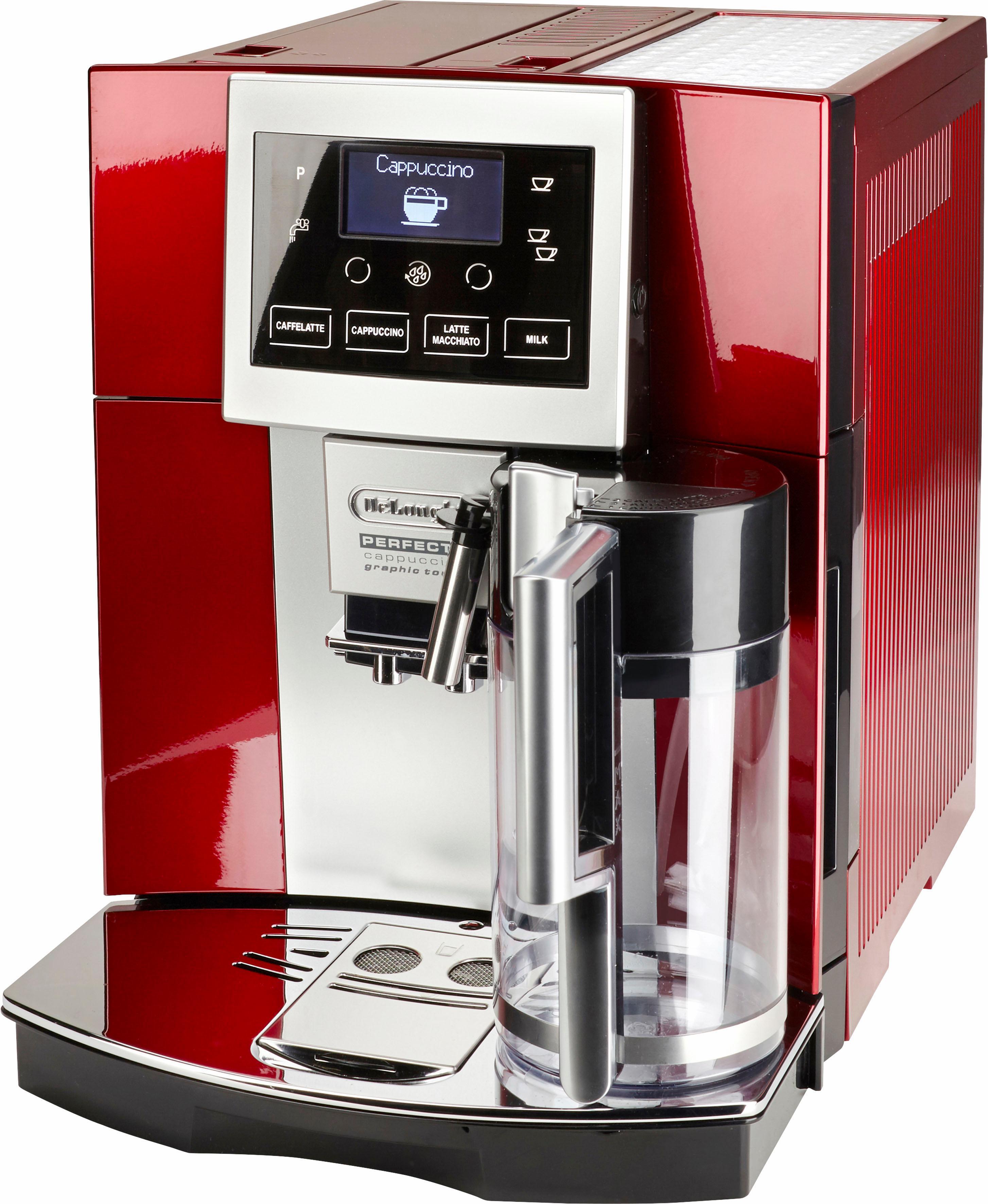 De´Longhi Kaffeevollautomat ESAM 5708.R, 1,7l Tank, Kegelmahlwerk | Küche und Esszimmer > Kaffee und Tee > Kaffeevollautomaten | Rot | DELONGHI